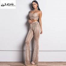 FREE SHIPPING !! Women Sexy Off Shoulder Two Pcs Set Rompers JKP1005