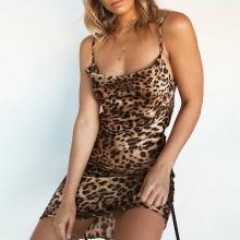 FREE SHIPPING !! Leopard Print Backless Strap Dresses JKP1037